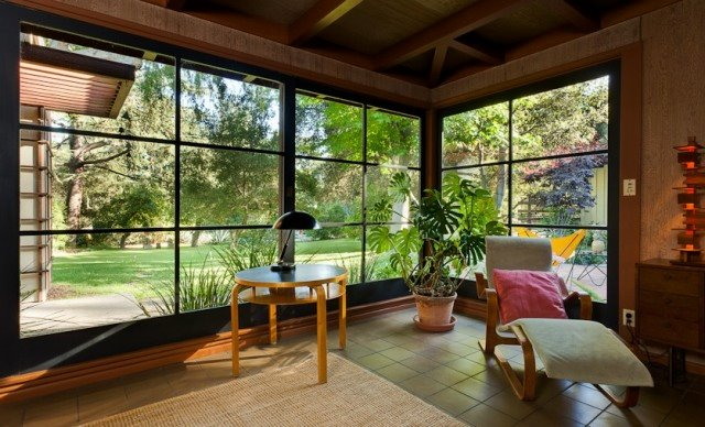 Mid Century Modern Pergola : ... entry door in end wall. Pergola above new entry is seen at left