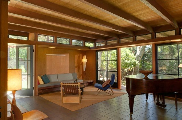 Mid century modern for Mid century post and beam house plans