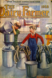 The Dairy Farmer, cover, Jan 1928