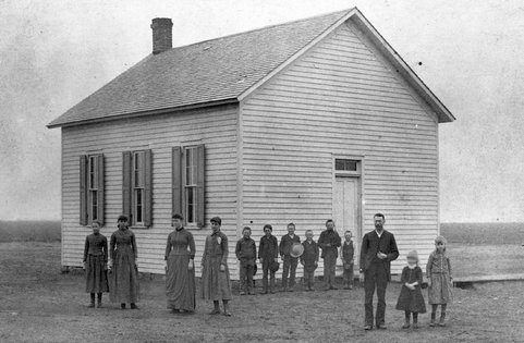 One room school in Sedgwick County, Kansas